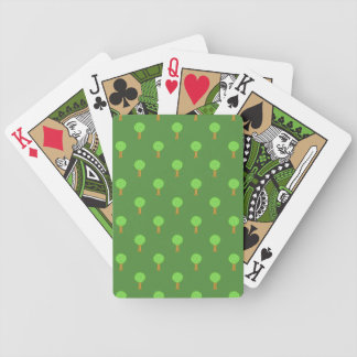 Green Tree Pattern. Bicycle Poker Cards