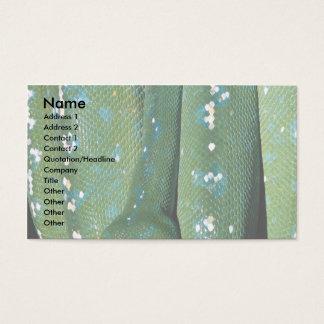Green tree python, New Guinea Business Card