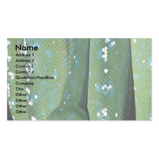 Green tree python, New Guinea Double-Sided Standard Business Cards (Pack Of 100)