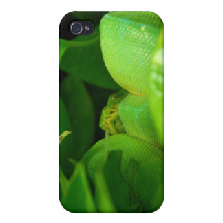 green tree python snake cases for iPhone 4