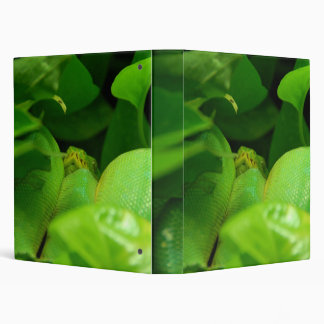 Green Tree Python Vinyl Binders