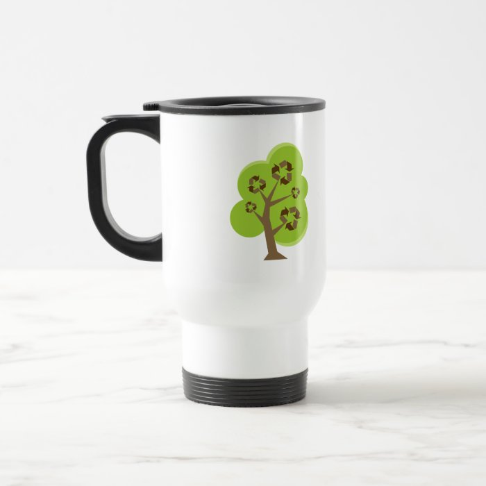Green Tree Recycle Travel Mug