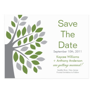 Green Tree Save The Date POST CARD!