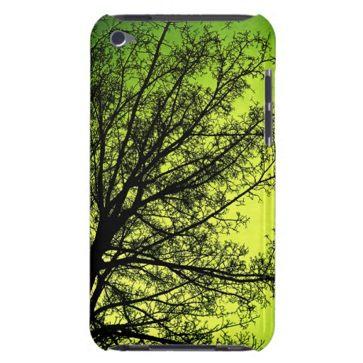 Green Tree Silhouette iPod touch case