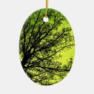 Green Tree Silhouette ornament