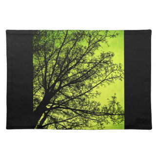 Green Tree Silhouette placemat