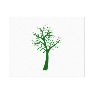 Green tree simple design eco.png canvas print
