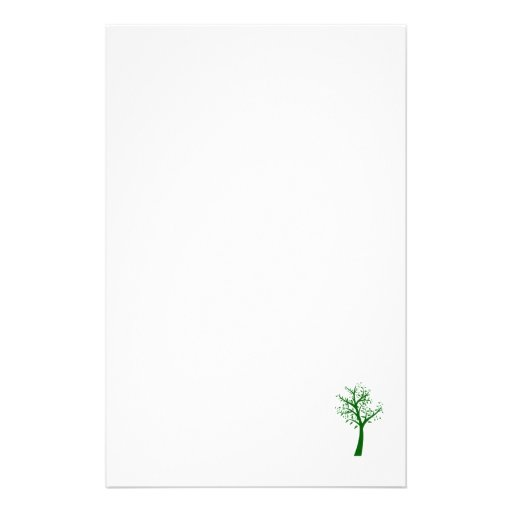 Green tree simple design eco.png stationery
