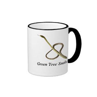 Green Tree Snake Ringer Mug
