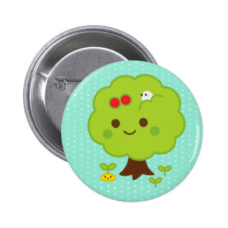 Green Tree Sprouts 2 Inch Round Button
