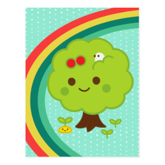 Green Tree Sprouts Postcard