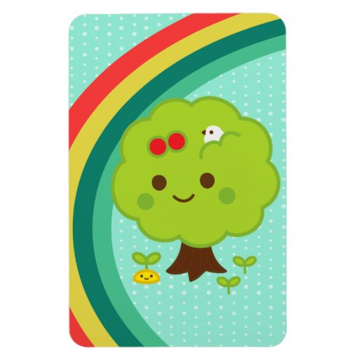Green Tree Sprouts Vinyl Magnet