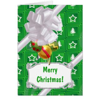 Green Tree Stars Card