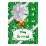 Green Tree Stars Greeting Card
