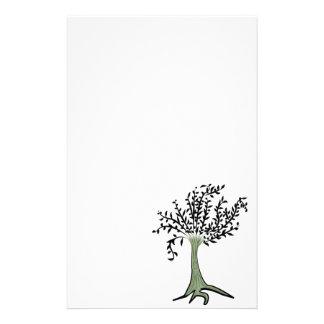 Green tree stationery