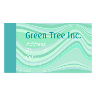 GREEN TREE STRIPES by SHARON SHARPE Double-Sided Standard Business Cards (Pack Of 100)