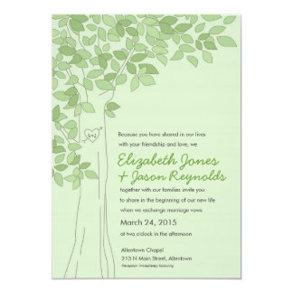 Green Tree Wedding Invitation