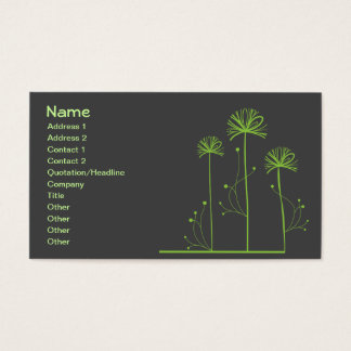 Green Trees Abstract Fine Art Business Card