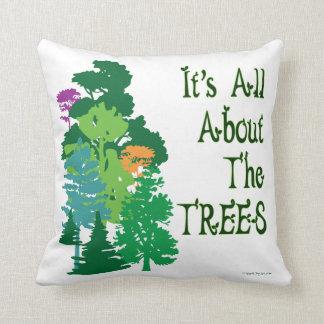 Green Trees American MoJo Pillow