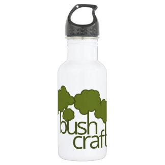 Green trees, bush craft 18oz water bottle