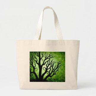 Green trees jumbo tote bag