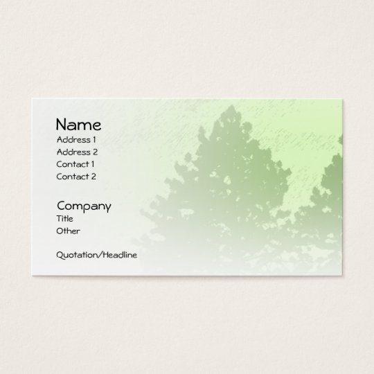 Green Trees Light Profile Card