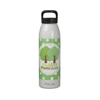 Green Trees - One Less Plastic Bottles Water Bottle