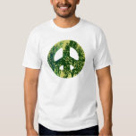 Green Trees Peace Sign T Shirt
