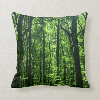 Green Trees Pillow #6182