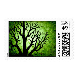 Green trees postage