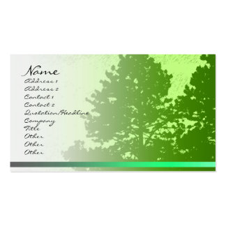 Green Trees Profile Card Double-Sided Standard Business Cards (Pack Of 100)