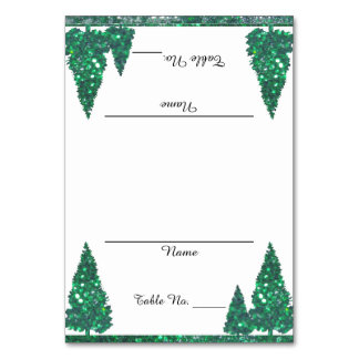 Green Trees Table Cards