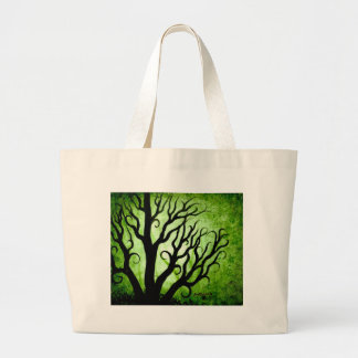 Green trees tote bags