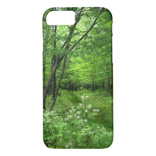 Green Trees Woods Forest Path iPhone 7 Case