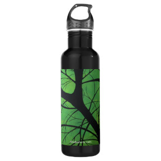 Green Treetops Stainless Steel Water Bottle