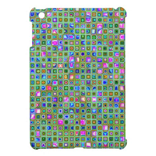 Green 'Trellis' Textured Mosaic Tiles Pattern iPad Mini Case