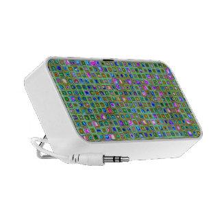 Green Trellis Textured Mosaic Tiles Pattern Mini Speaker