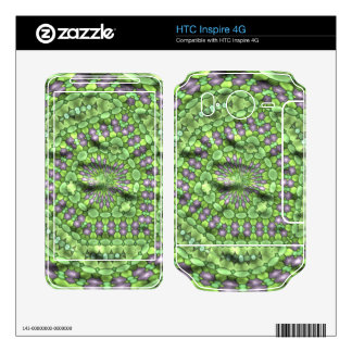 Green trendy art decal for HTC inspire 4G