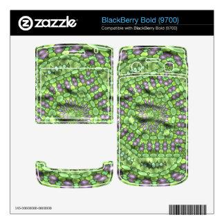 Green trendy art decals for BlackBerry