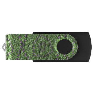 Green trendy art USB flash drive