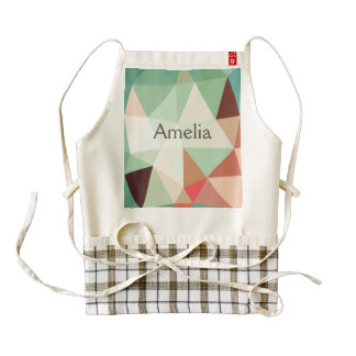 green,trendy,graphic,design,pattern,modern,chic,fu zazzle HEART apron