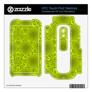 Green trendy pattern HTC touch pro2 skins