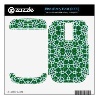 Green Trendy Pattern BlackBerry Skins