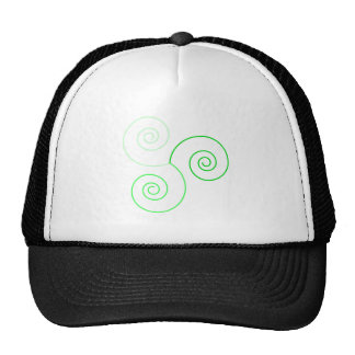 Green Tri-Color Spiral of Life Hat