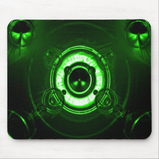 Green Tri Lens Flare Mouse Pad