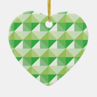 Green Triangles Ceramic Ornament