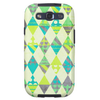 Green Triangles Galaxy S3 Cover