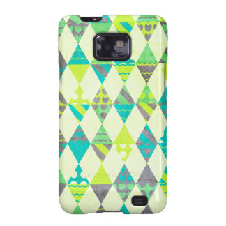 Green Triangles Galaxy SII Cases