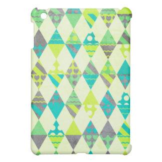 Green Triangles iPad Mini Case