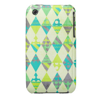 Green Triangles iPhone 3 Covers